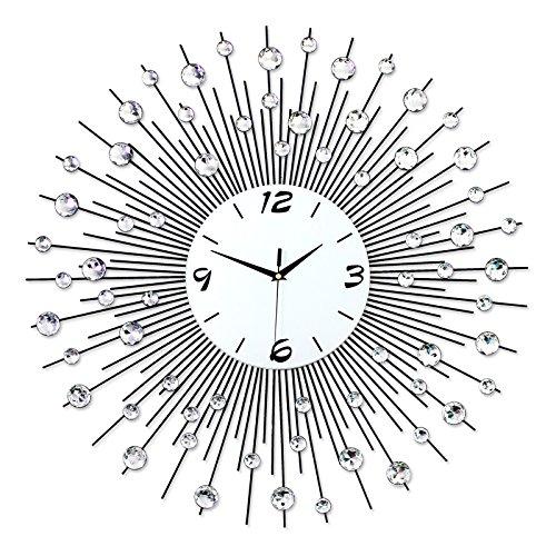 Everyday home Horloge murale minimaliste européenne moderne en quartz silencieux/salon/chambre à coucher (Couleur : Noctilucent color, taille : 70 * 70cm)