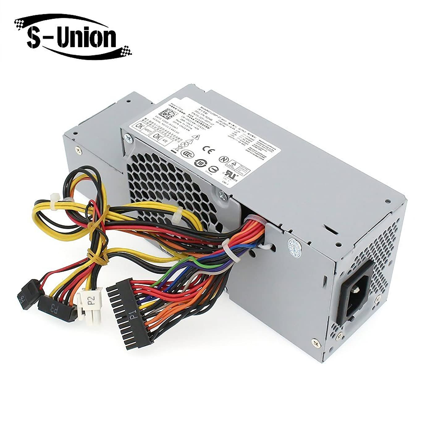 S-Union FR610 WU136 PW116 67T67 RM112 R224M 235W Power Supply Compatible for Dell Optiplex 760, 960 780 580 SFF Systems, Model Numbers H235P-00 L235P-01 L235P-00 H235E-00 F235E-00 L235ES-00