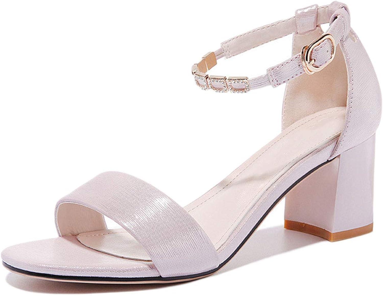Damen klobige Ferse Sandalen Sommer Open Toe Outdoor Knöchelriemen Sandalen Sandalen Sandalen Wort Gürtel Plattform High Heels römische Schuhe  8a79c2