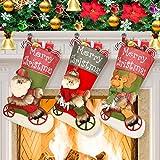Dreampark クリスマスストッキング サンタ雪だるま トナカイ クリスマスキャラクター パーティーデコレーション用