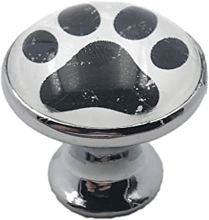 Dog Paws, Paw Print Glass Knob for Dresser Drawers, Cabinet Drawers, Kitchen Cabinets
