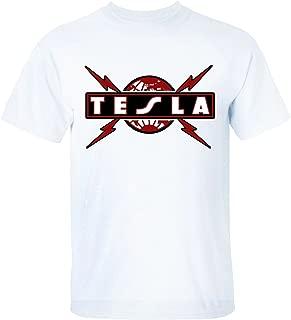 XTOTO Men's Tesla Band Logo Cool T-Shirts