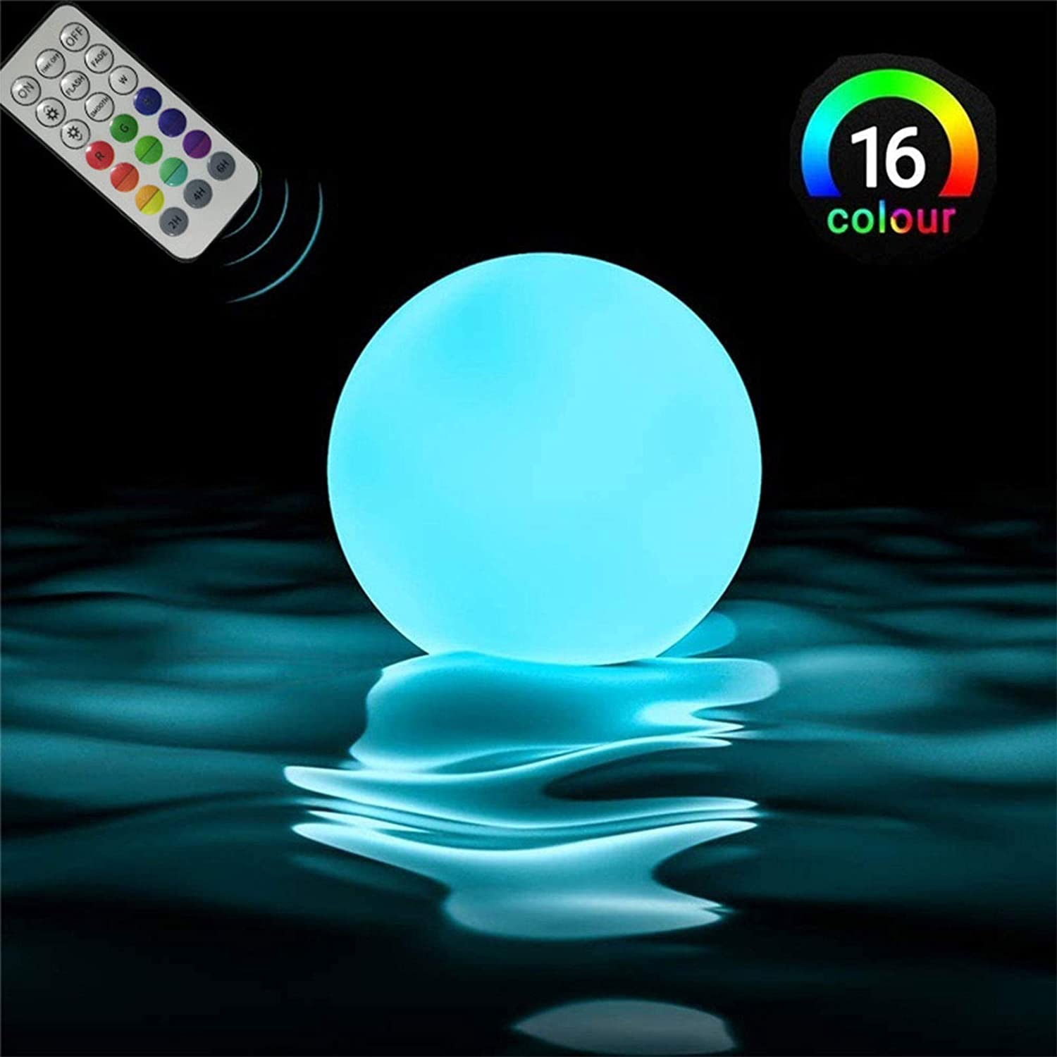 Waterproof Cordless Hot Tub Led Kids Night Light Ball Lamp for Above Ground Pool Garden Backyard Lawn Beach Party Decor Floating Pool Lights 12 Packs with Remote Control /& Timer 12 Packs