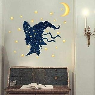 3D look wall decal Halloween Window Sticker PVC Graffiti Moon Star Self-adhesive Wall Sticker