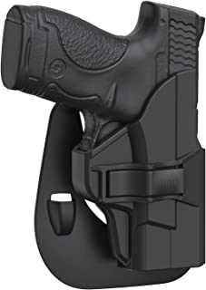 S&W M&P Shield 9mm / .40 Holster, Tactical Outside The Waistband Belt Holster Fits Smith & Wesson MP Shield 3.1