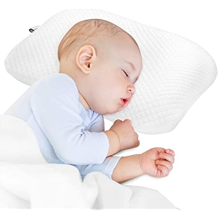 Newborn Baby Breathable Pillow Prevent Anti Roll Flat Head Cushion Pillows VQ