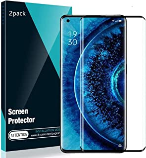 [2Pack] Boleyi for Oppo Find X2 Pro Screen Protector,9H Hardness [0.26mm,2.5D] No-Bubble,Screen Protector for Oppo Find X2...