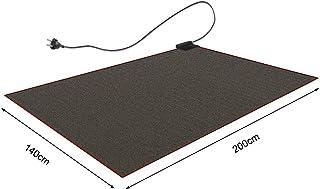 cravog Calefacción Alfombra (140x 200cm alfombra Calefacción Beheizbare Alfombra Base de suelo radiante Negro