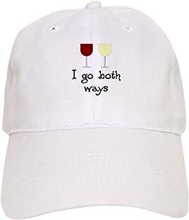 45cf6e1e76e41 CafePress - I Go Both Ways Red White Wine - Baseball Cap with Adjustable  Closure