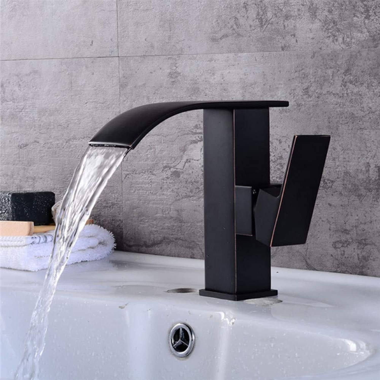 Lddpl Wasserhahn Bad Waschbecken Wasserhahn Wasserfall Waschbecken Wasserhahn Chrom Messing Hot & Cold Basin Kranhahn Waschbecken Mischbatterie Waschbecken