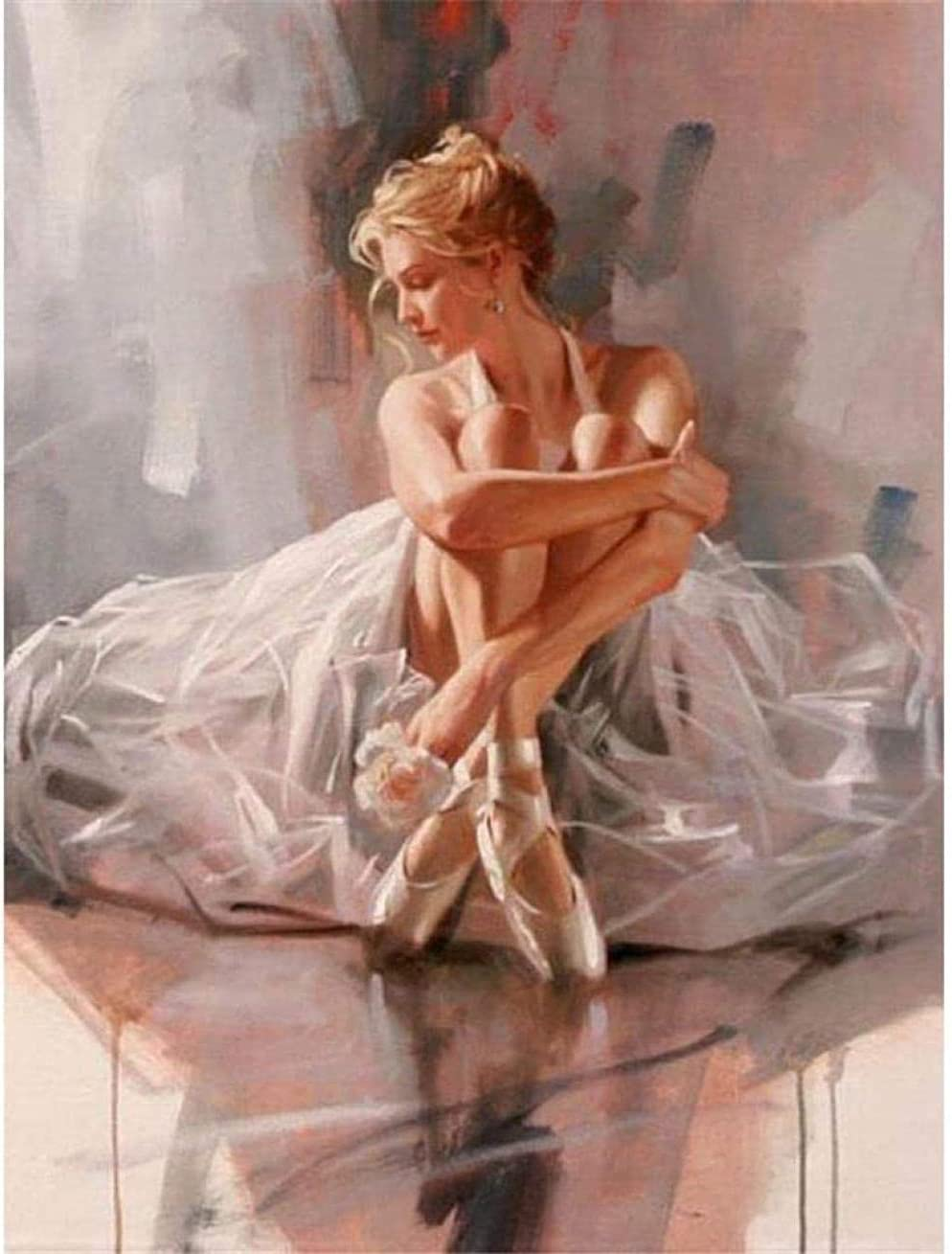 Adult Popular Time sale products Puzzle 1000 Pieces-Ballerina on Sitting Floor-Teenager The