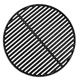 DcYourHome 18 3/16 Inches Cooking Grates for Large Big Green Egg/ (L) BGE, Cast Iron Grill Grid Replacement for Vision Grill VGKSS-CC2, B-11N1A1-Y2A Kamado Charcoal Grill Accessories