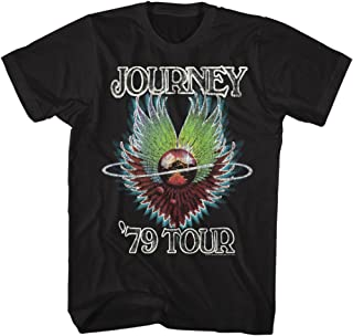 American Classics Journey Rock Band Music Group 1979 Tour List Adult T-Shirt Tee