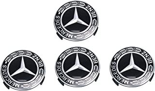 4pcs 75mm Car Wheel Stickers Wheel Center Covers Wheel Hub Caps Rim Covers Emblem Car Styling Accessories For Mercedes Benz