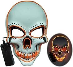 Halloween Mask Light Up LED Skull Rave Mask Halloween Cosplay Costume Party