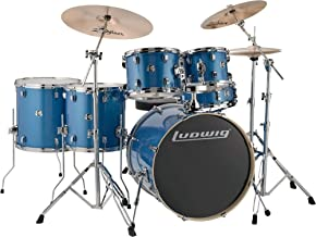 Ludwig Element Evolution 6-Pc Drumset with Zildjian ZBT Cymbals - 22 Inches - Blue Sparkle