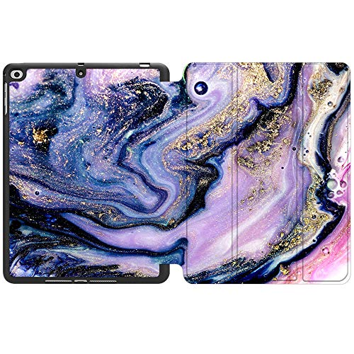 SDH New iPad 9.7 Inch 2018 2017 Case with Pencil Holder, iPad Air 1 / iPad Air 2 Smart Cover Folio Stand Protective for Apple iPad 5th 6th Gen Case (A1822/A1823/A1893/A1954), Marble Figure 3
