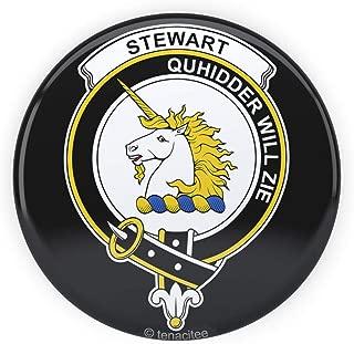 Tenacitee Scottish Clan Crest Badge Stewart of Appin Pinback Button, 2.25