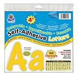 Pacon 4' Self-Adhesive Uppercase and Lowercase Letters, 154-Count, Yellow (51695)