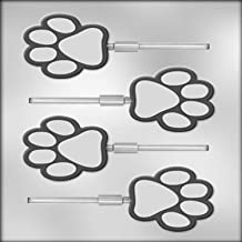 CK Products 2-1/2-Inch Paw Print Sucker Chocolate Mold