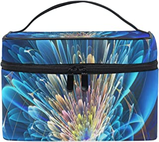 Travel Cosmetic Bag Vintage Abstract Flower Toiletry Makeup Bag Pouch Tote Case Organizer Storage For Women Girls