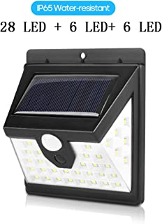 Tomshine 40LED Solar Powered Wall Lamp Motion Sensor Light Human Body Induction Lamp Water-resistant Outdoor Lighting for ...