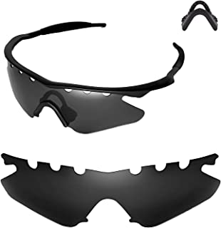 Walleva Vented Replacement Lenses Or Lenses with Black Nosepad for Oakley M Frame Heater Sunglasses - 21 Options Available