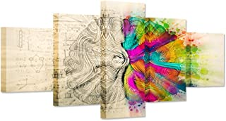 Hello Artwork - Modern Giclee Prints Human Brain Left And Right Brain Differences Functions Abstract Science And Enlightenment Picture Poster For Wall Decoration