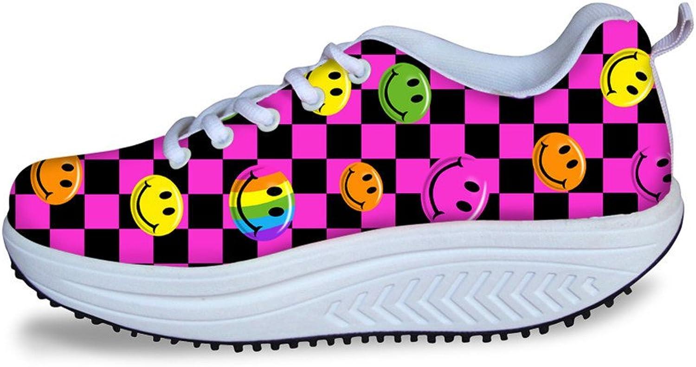 DeePrint Platform Walking shoes Comfort Platform Walking shoes