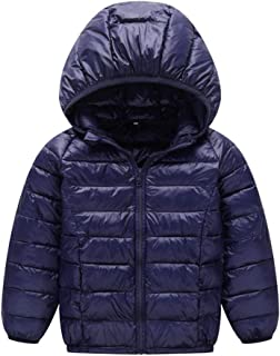 SITENG Baby Boys Girls Hooded Coat Winter Lightweight Down Jacket Cotton Puffer Coat