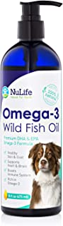 Pure Omega 3 Fish Oil for Dogs Liquid, Wild Caught from Iceland, Skin and Coat Supplement for Shedding, Dry Itchy Skin, He...