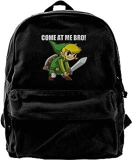 NJIASGFUI Mochila de lona Legend Of Zelda-Come At Me Bro para gimnasio, senderismo, portátil, bolso de hombro para hombres...