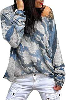 Women One Shoulder knitting Long Sleeve T-Shirt Tops ❀ Ladies Loose Tee Shirt Blouse Tunic Top Sweatshirt