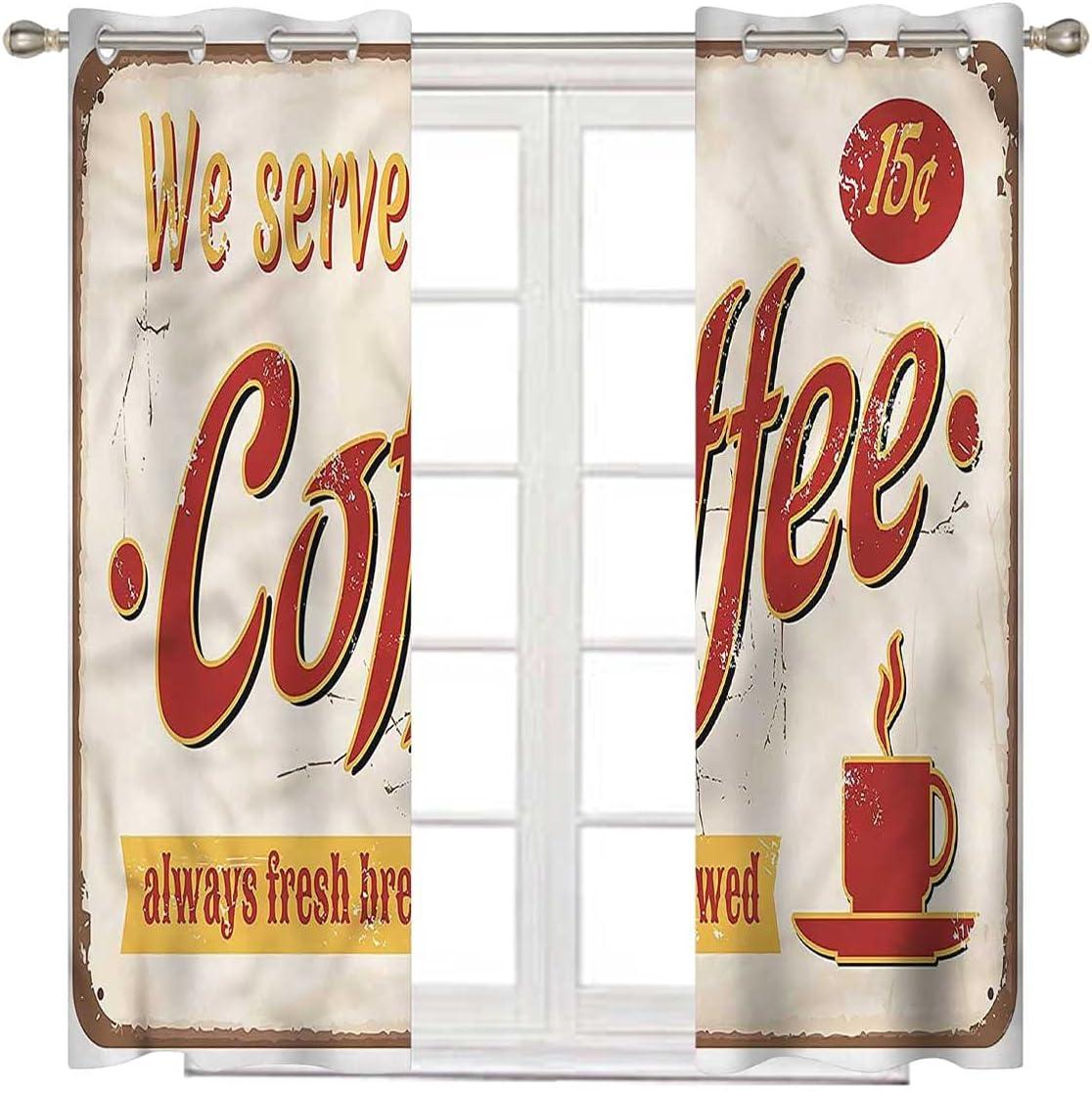 Retro Omaha Mall Short Curtain 72 Inch Ranking TOP1 Long Tin Rusty Faded B Vintage Light