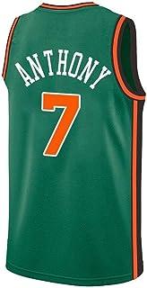 CCKWX Camiseta Unisex Jerseys para Hombre - New York Knicks # 7 Carmelo Anthony Jersey, Cool Swingman De Tela Transpirable,Verde,XL:185cm/85~95kg