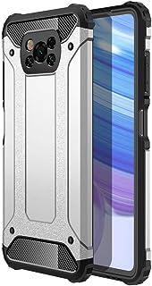 スマホケース Xiaomi Poco X3 NFC ケース 対応 TPU 耐衝撃、 シルバー