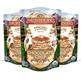 3-pack of 16 ounce pouches. Feeds a crowd! Makes 78 four-inch pancakes or waffles. We love pancakes, and pancakes love chocolate. Our Chocolate Chip pancakes bring you the very best of both. Preparation is a breeze: simply scoop the desired amount of...