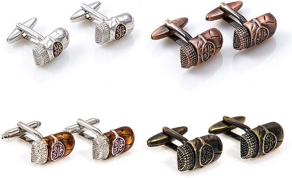 MRCUFF Cuban Cigars 4 Pairs Cufflinks in a Presentation Gift Box & Polishing Cloth