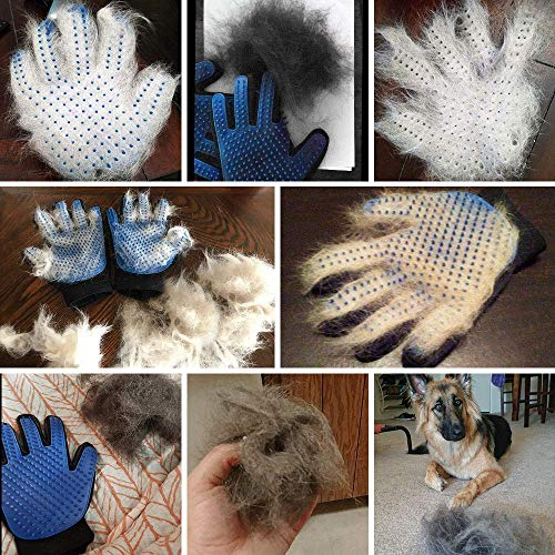 Product Image 6: PICKVILL Efficient Pet Hair Remover Mitt Enhanced 5 Finger Design Gentle Deshedding Brush Gloves for Dogs with Long and Short Fur (Multicolour)