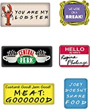 Pritties Accessories Genuine Warner Bros Friends TV Quotes Refrigerator Magnet Set of 6 Fridge Magnets