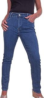 icecoolfashion Jeans da Donna in Denim Elasticizzato con Gamba Dritta 42-54