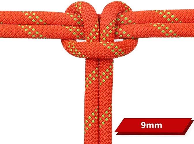 YAXIAO Corde d'Escalade Corde de Rappel pour Travail aérien Ligne de Vie Corde électrostatique 9mm   10mm   10.5mm Corde d'escalade (Couleur   9MM, Taille   20M(65.6FT))