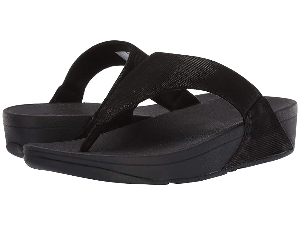 FitFlop Lulu Toe-Thong Sandals Shimmer-Check (Black) Women