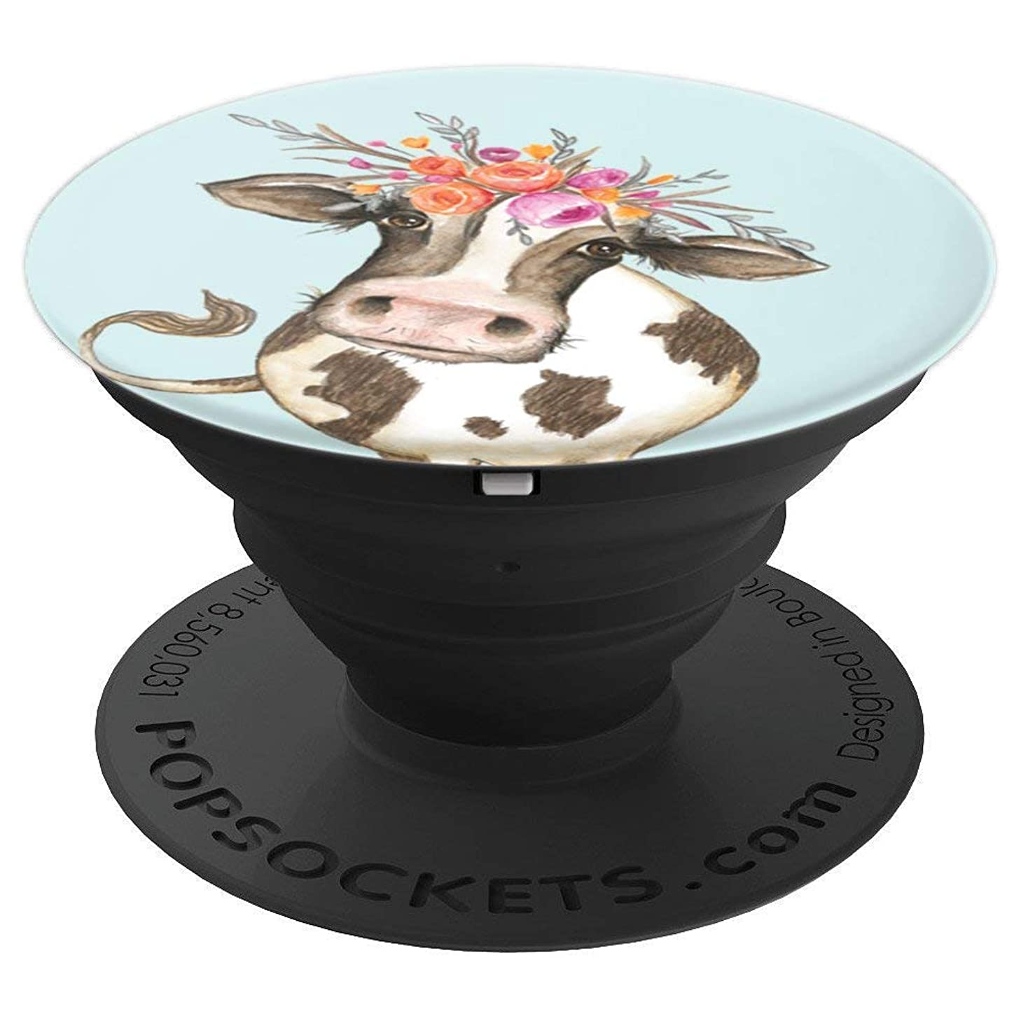 BDAZ Cute Trendy Cow Flower Headband Farm Ranch Southern - PopSockets Grip and Stand for Phones and Tablets