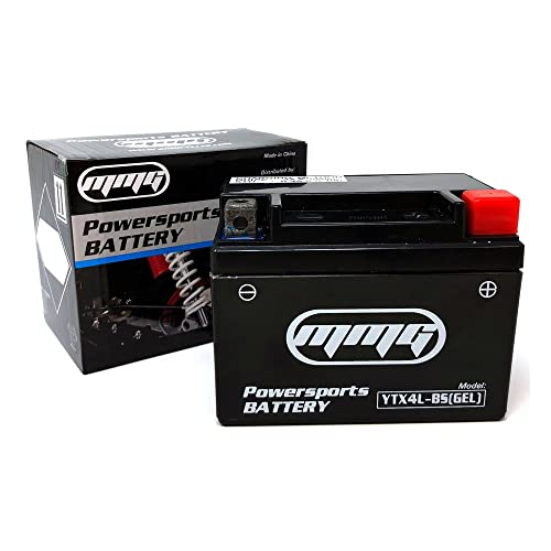 MMG YTX4L-BS GEL CELL High Performance sealed Battery – ATV TaoTao Cheetah TForce ATA