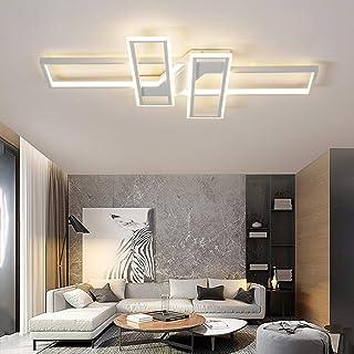 Lámpara De Techo Moderna LED Focos De Techo Regulable Plafón Para Sala De Estar Lámparas De Araña Acrílico Dormitorio Decor Cocina Oficina Iluminación Colgante,White dimmable,90cm