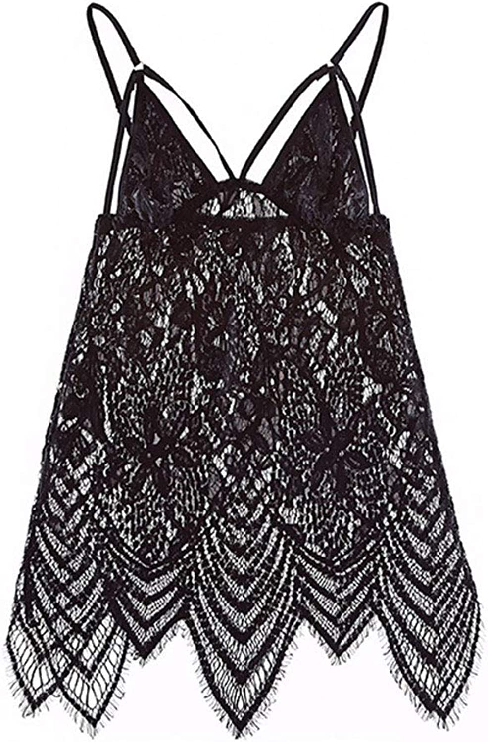 Sexy Pajamas Sexy Lingerie Sling Nightdress Adult Cutout Set (color   Black)
