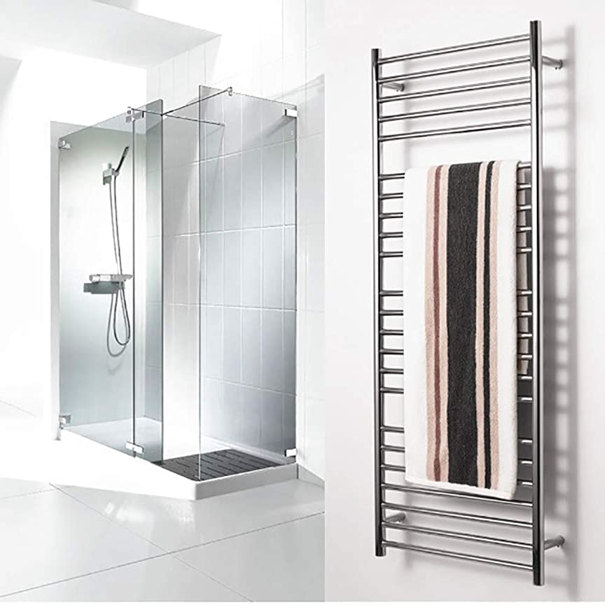 二十メタルライン追放する電気タオルラック、23本の加熱バー壁掛けタオルレール304ステンレス鋼タオルウォーマー、乾燥および断熱機能付き