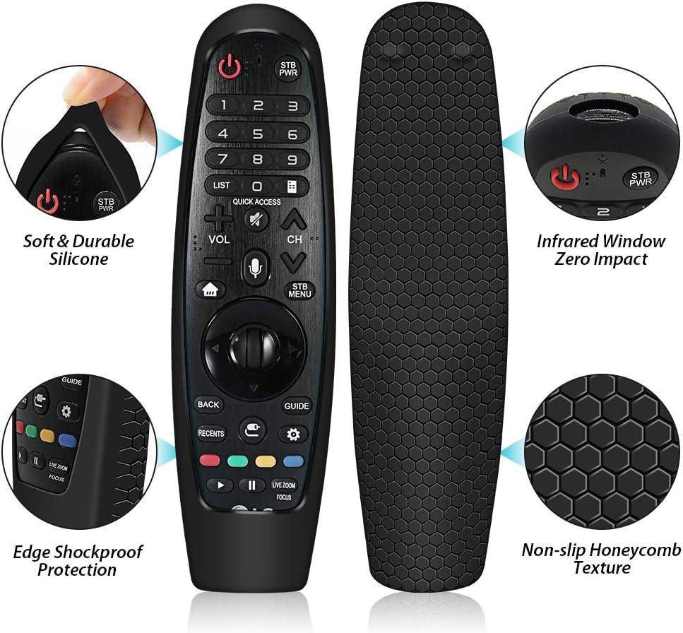Amarillo Funda de Silicona para Mando a Distancia LG Magic Control AN-MR20GA AN-MR19BA AN-MR18BA AN-MR600 AN-MR650 AN-MR650A Anti-ca/ída Carcasas Protectora para LG Magic Remote