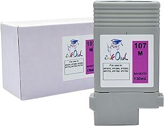 InkOwl Compatible Ink Cartridge Replacement for Canon PFI-107M (130ml, Magenta) - iPF670, iPF680, iPF685, iPF770, iPF780, iPF785 Printers